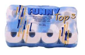Toilettenpapier 3 lagig hochweiss, VE=72 Rollen